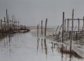 Fischernetze im Watt
